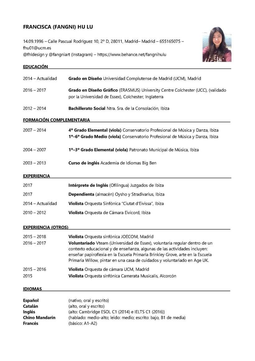 Evolución de mi CV 2016 - 2018 5