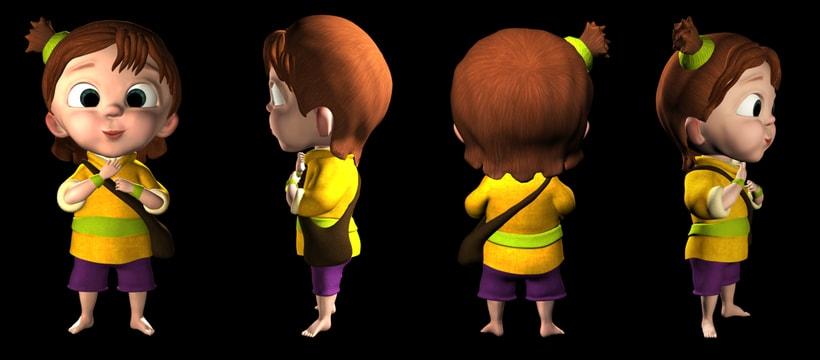 Mi Proyecto del curso:  Modelado profesional de personajes cartoon 3D 1