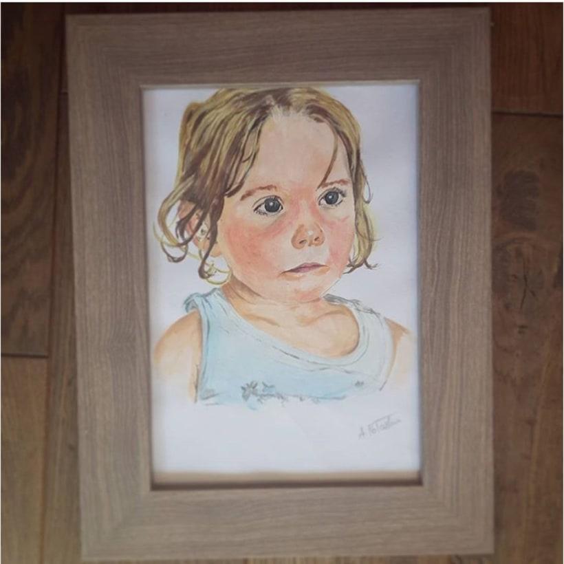 acrylic paint portrait -1