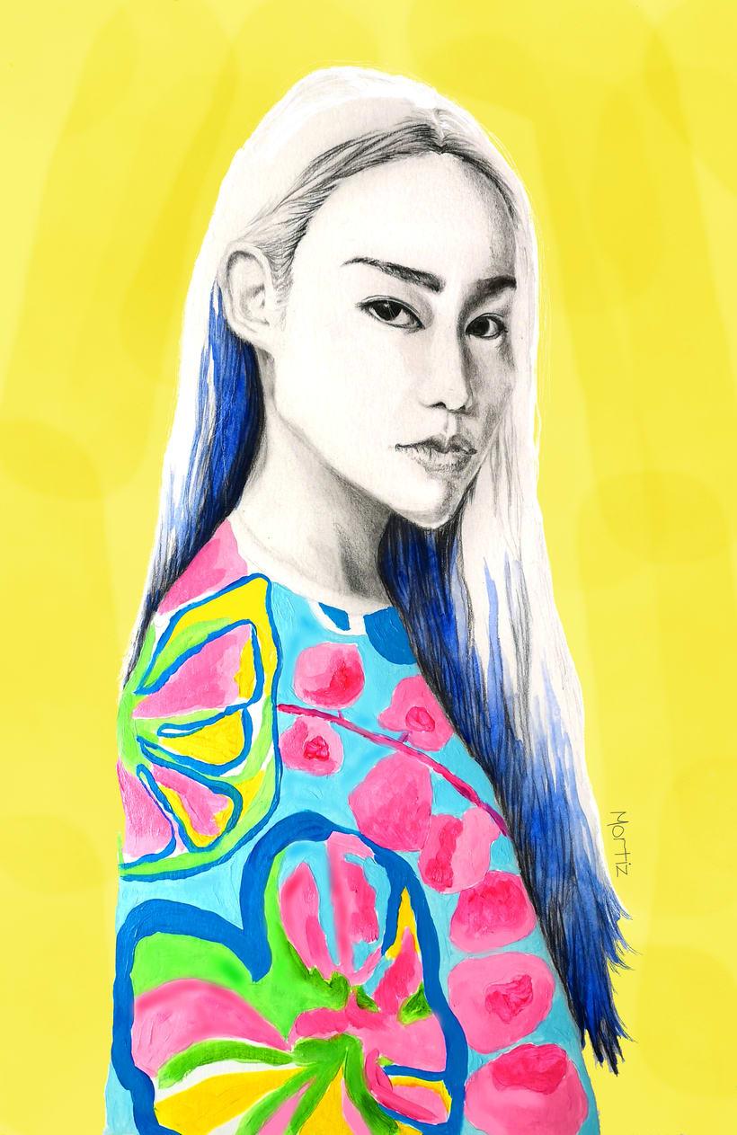 Mi Proyecto del curso: Retrato con lápiz, técnicas de color y Photoshop 0