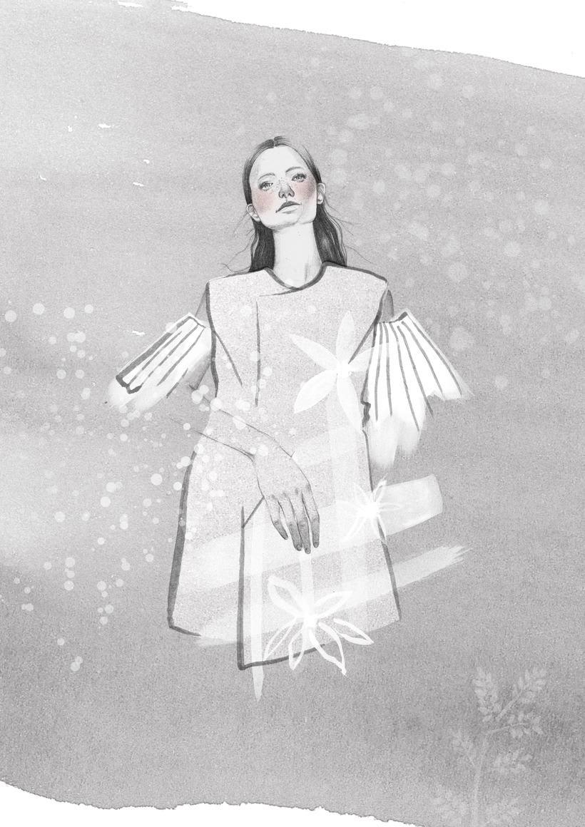 El anhelo FW17. Trabajo Final de Grado en Diseño de Moda. Ilustraciones de la colección. EASD Burgos. 1