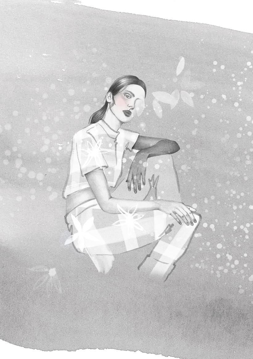 El anhelo FW17. Trabajo Final de Grado en Diseño de Moda. Ilustraciones de la colección. EASD Burgos. 2