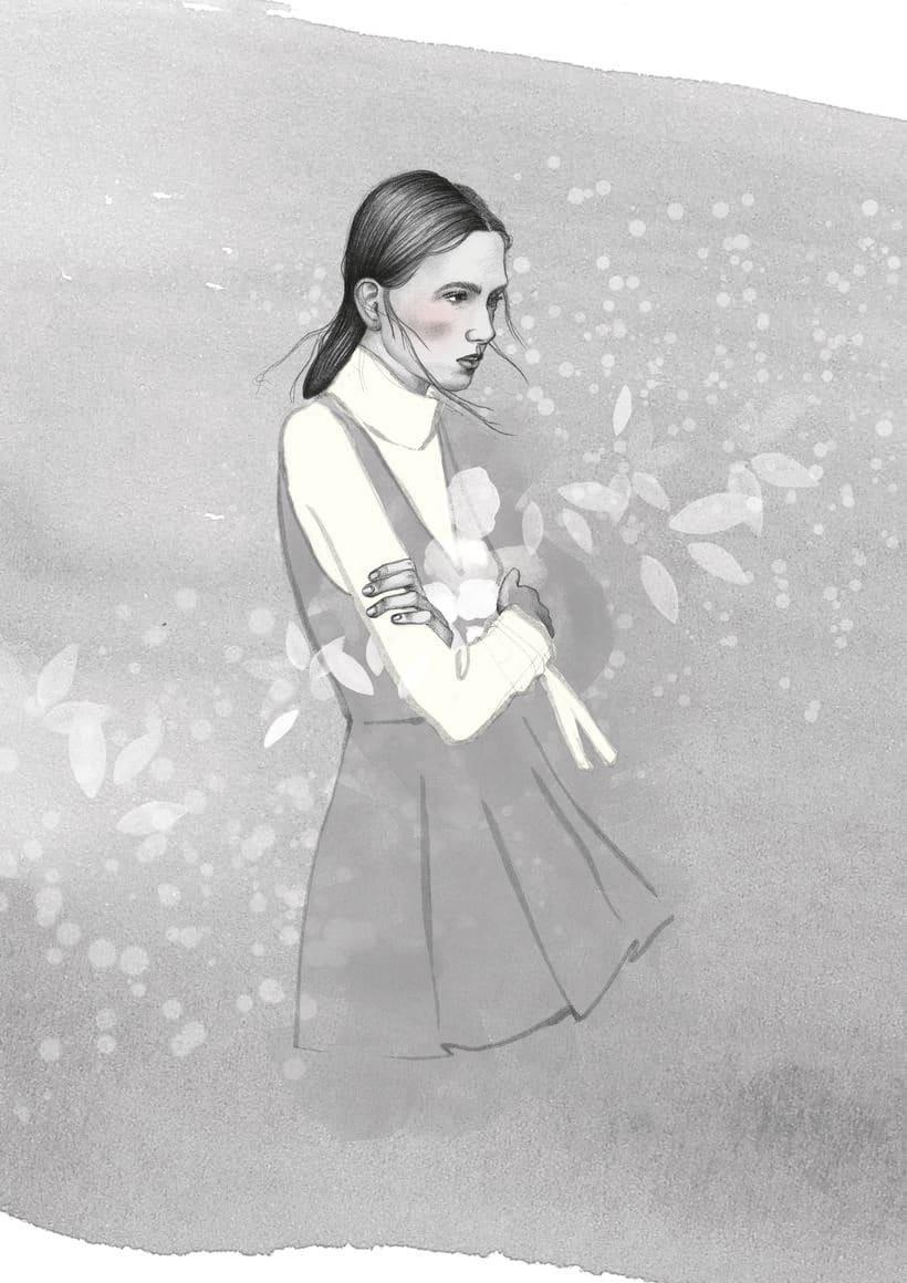 El anhelo FW17. Trabajo Final de Grado en Diseño de Moda. Ilustraciones de la colección. EASD Burgos. 3