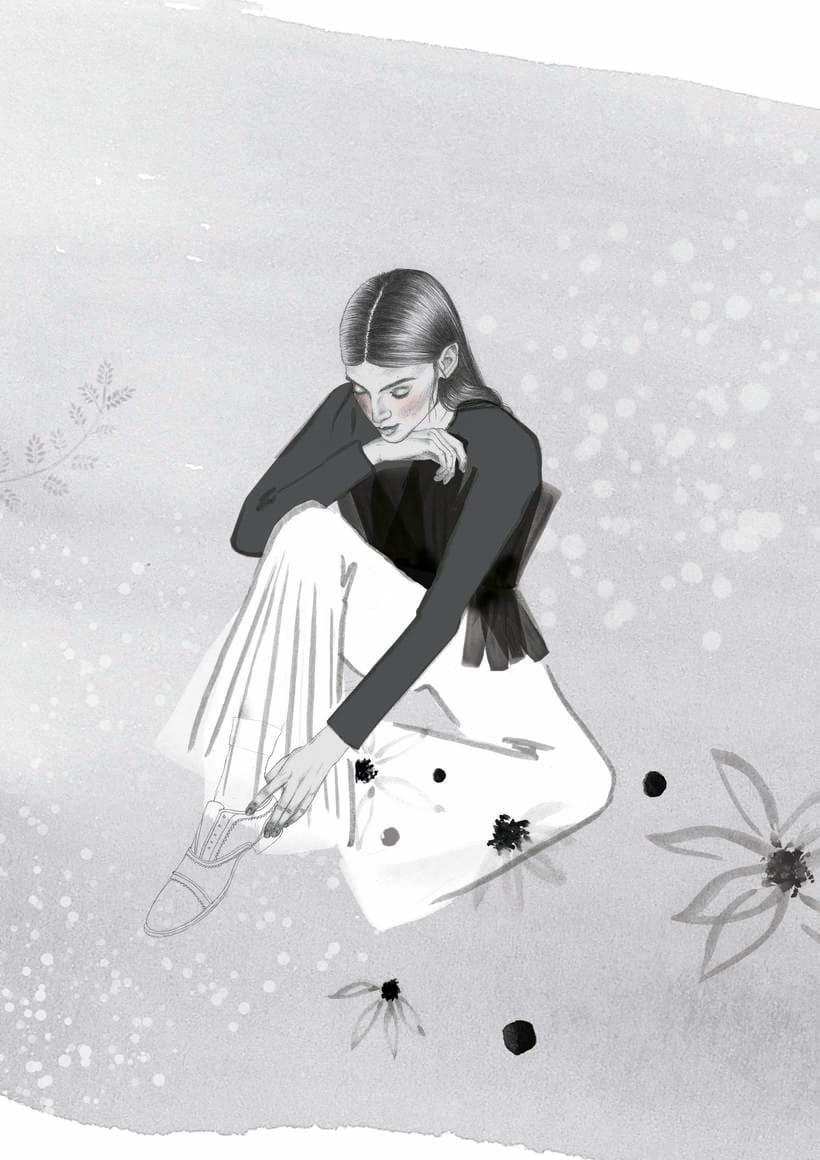 El anhelo FW17. Trabajo Final de Grado en Diseño de Moda. Ilustraciones de la colección. EASD Burgos. 6