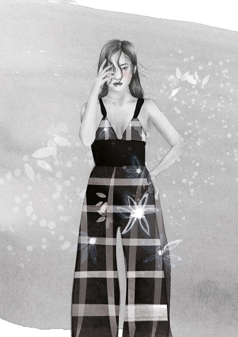El anhelo FW17. Trabajo Final de Grado en Diseño de Moda. Ilustraciones de la colección. EASD Burgos. 8