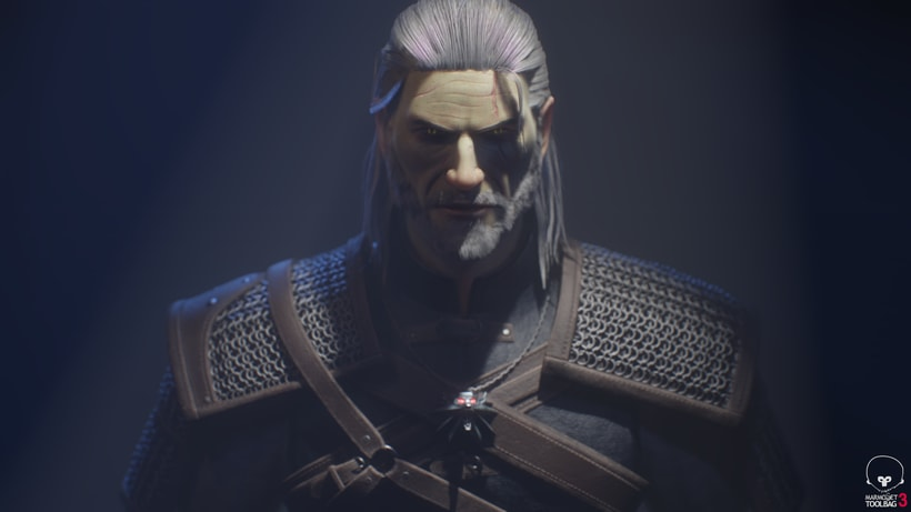 Geralt of Rivia. Zbrush, Substance Painter y Marmoset Toolbag 0
