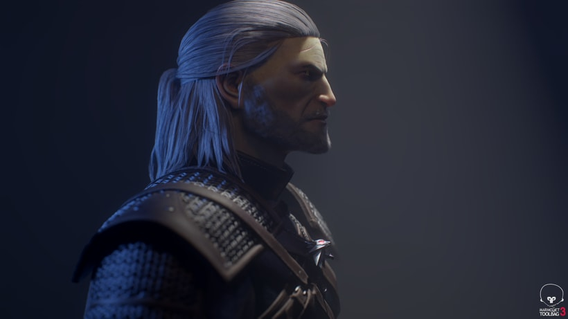 Geralt of Rivia. Zbrush, Substance Painter y Marmoset Toolbag 1
