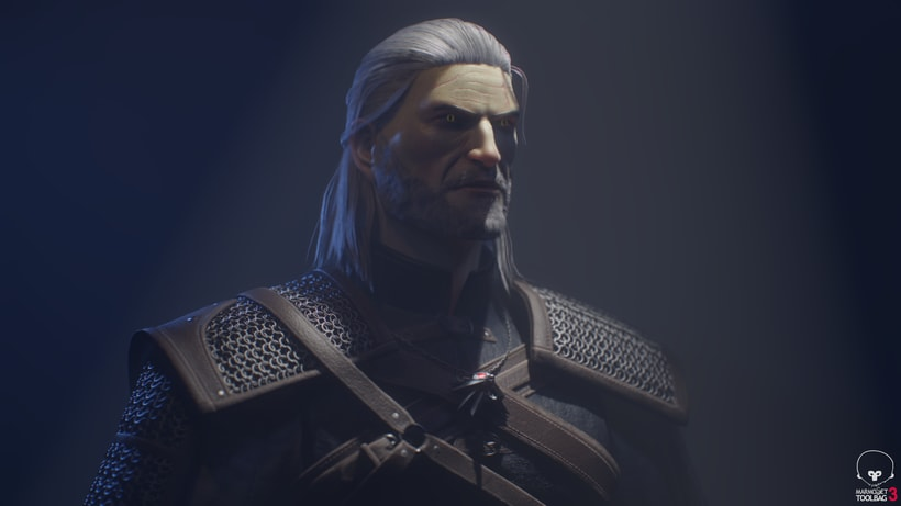 Geralt of Rivia. Zbrush, Substance Painter y Marmoset Toolbag 2