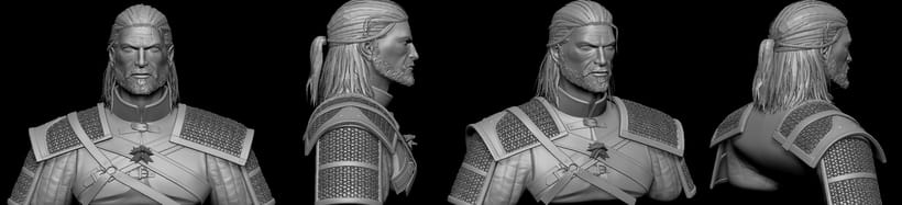 Geralt of Rivia. Zbrush, Substance Painter y Marmoset Toolbag 3
