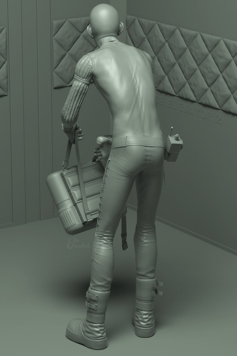 """Version of a Moebius' spacesuit concept art made for """"Alien"""" 4"""