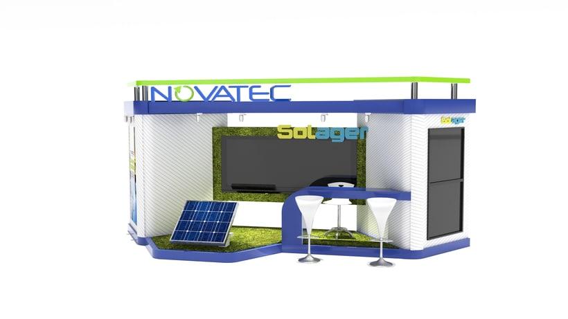 Stand comercial para Novatec s.a -1