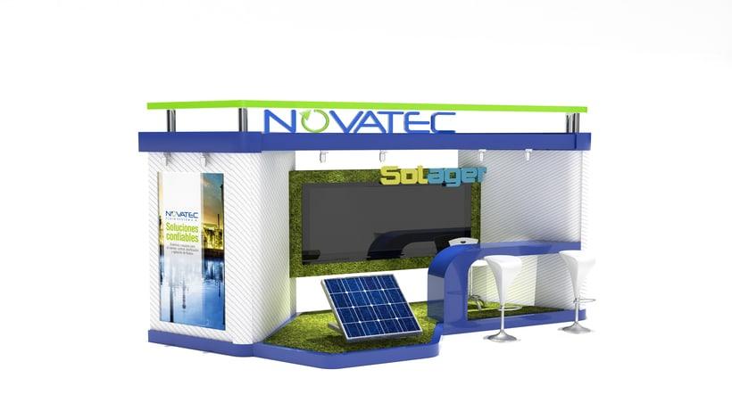 Stand comercial para Novatec s.a 1
