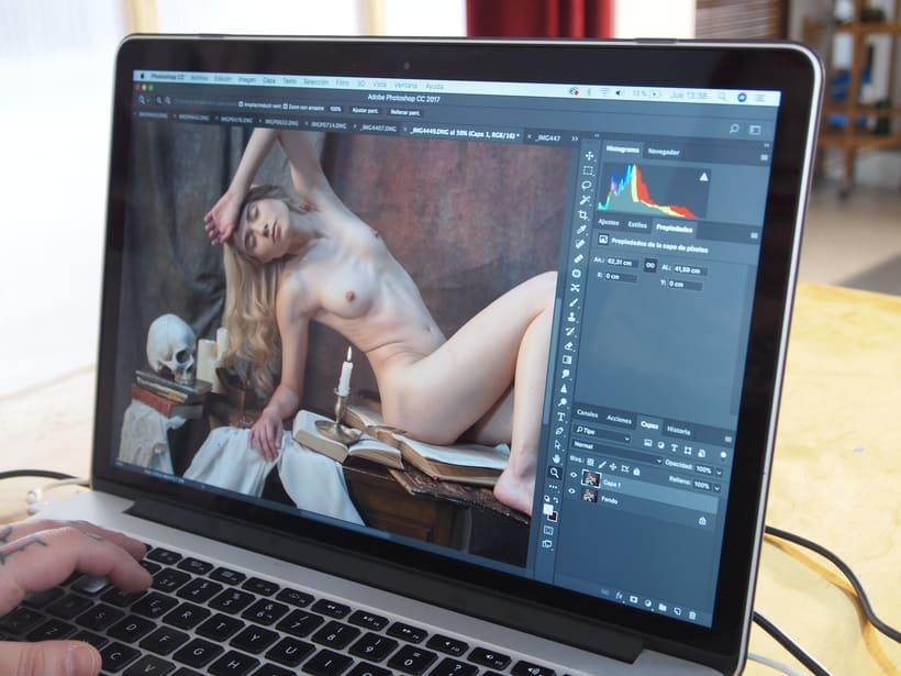 Trabajos realizados en el curso de fotografía de desnudo artístico 40