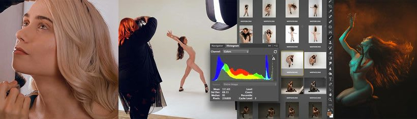 Trabajos realizados en el curso de fotografía de desnudo artístico 43