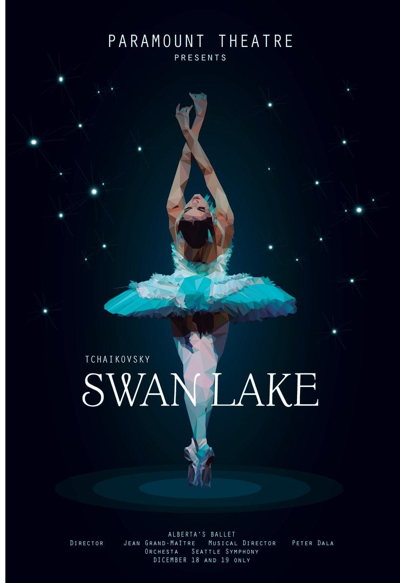 Swan Lake - Low poly  0
