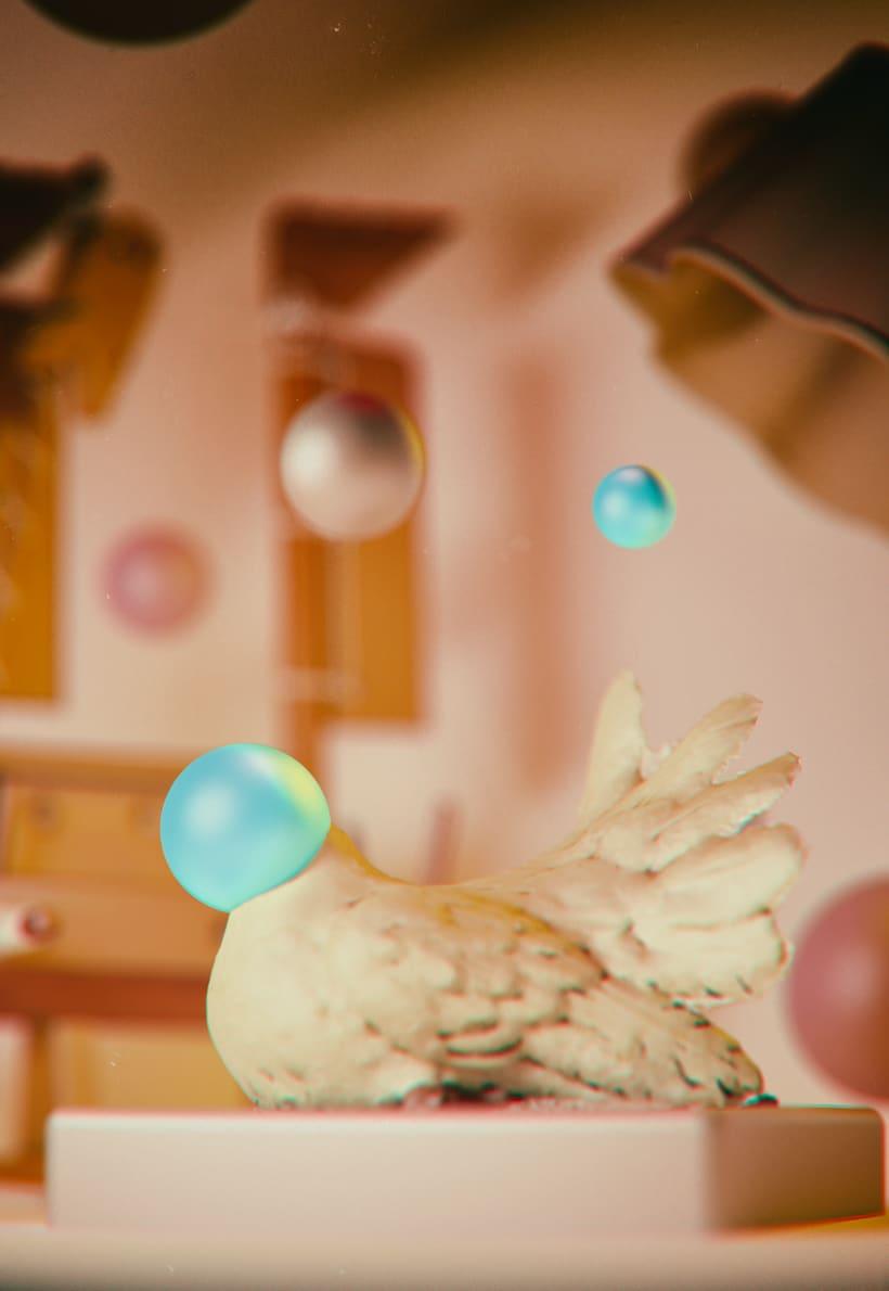 Paloma con cabeza esférica -1