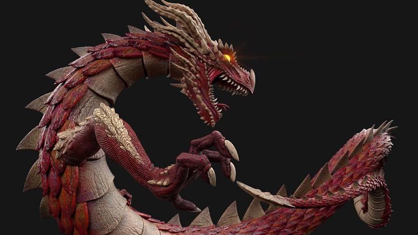 Dragon, Diseño, modelado e ilustración 3D 3