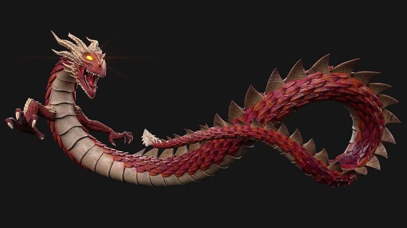Dragon, Diseño, modelado e ilustración 3D 2