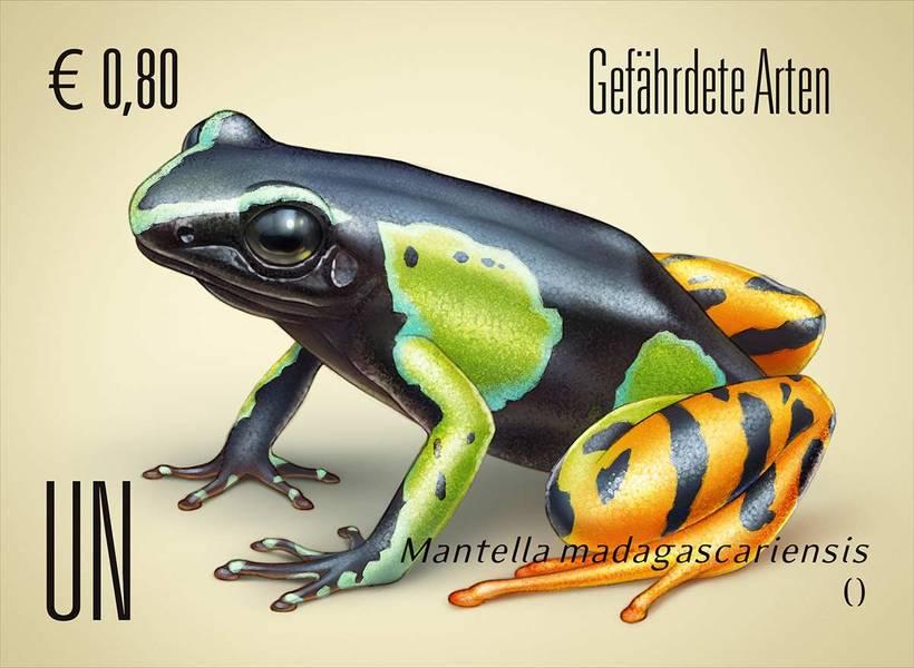 Ilustraciones sellos ONU, especies en peligro 2018 0