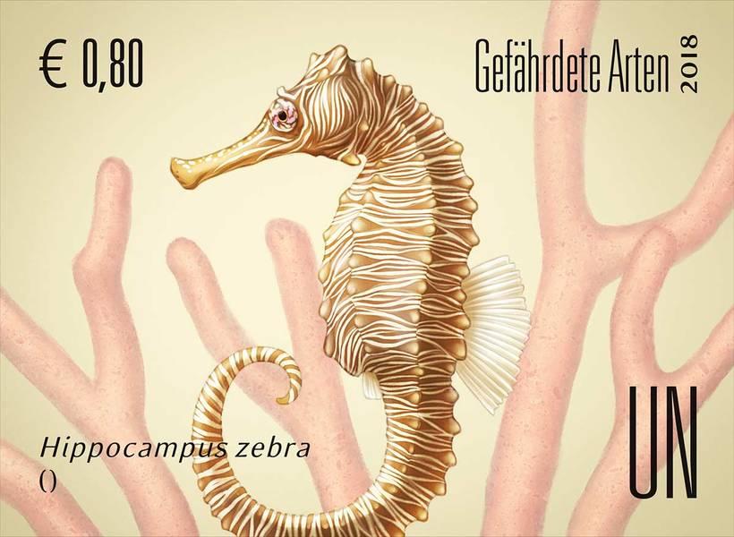 Ilustraciones sellos ONU, especies en peligro 2018 3