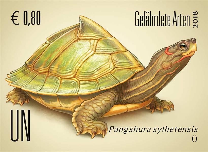 Ilustraciones sellos ONU, especies en peligro 2018 2
