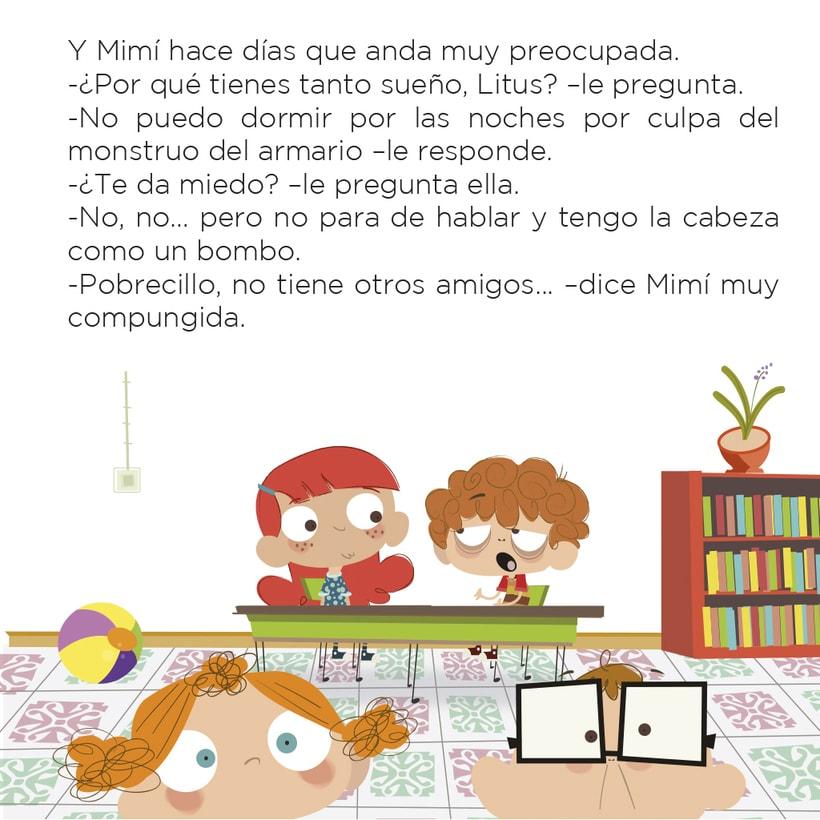 Cuento infantil y libro de texto 8