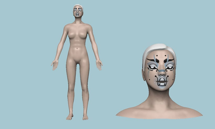 Figurative_3D modelling+render 3
