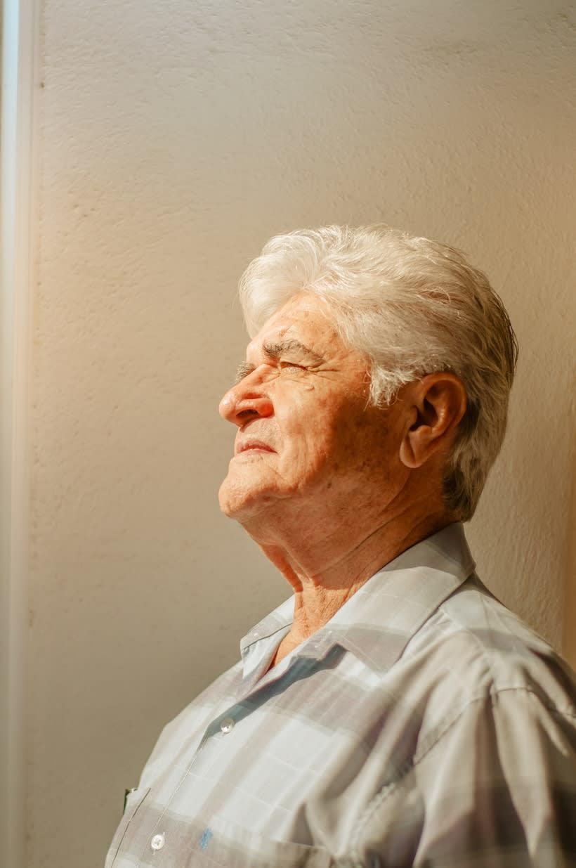 Fotografía de retrato con luz natural : Mi Padre 6
