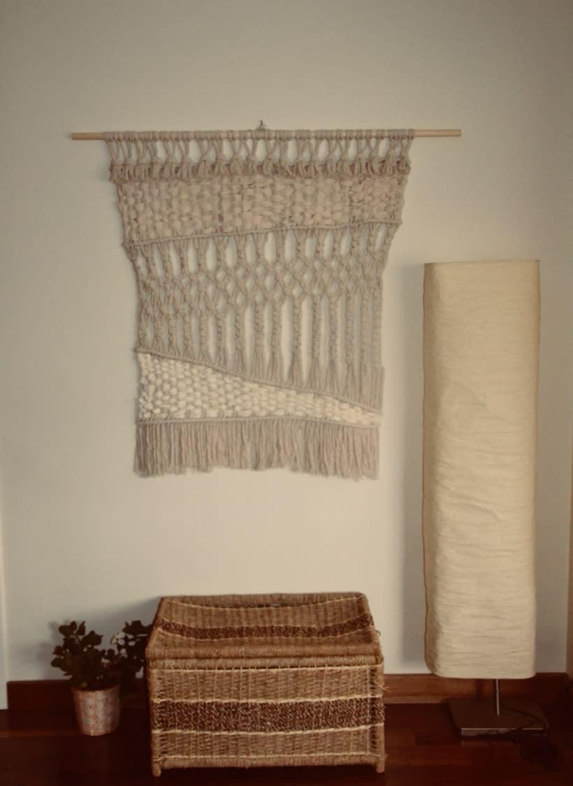 Mi Proyecto del curso: Introducción al macramé: creación de un tapiz decorativo 0