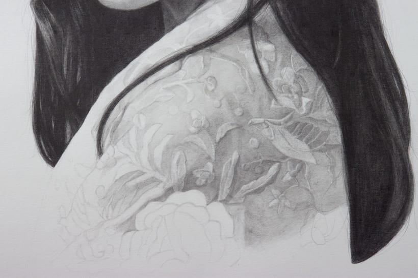 Mi Proyecto del curso: Retrato realista con lápiz de grafito 3