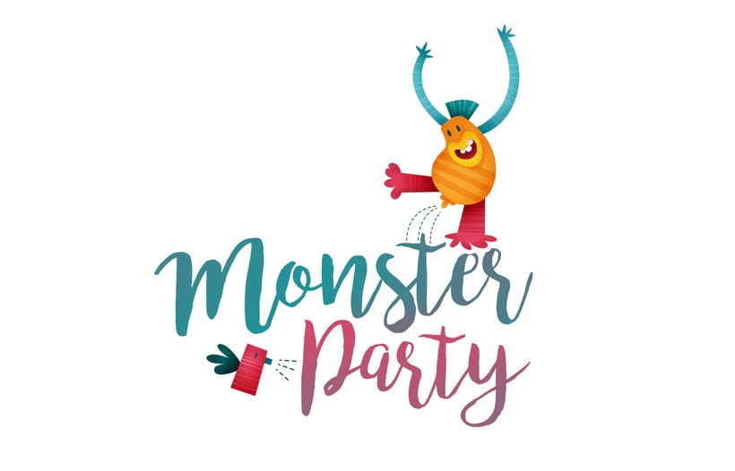 MonsterParty. Ilustración infantil 0