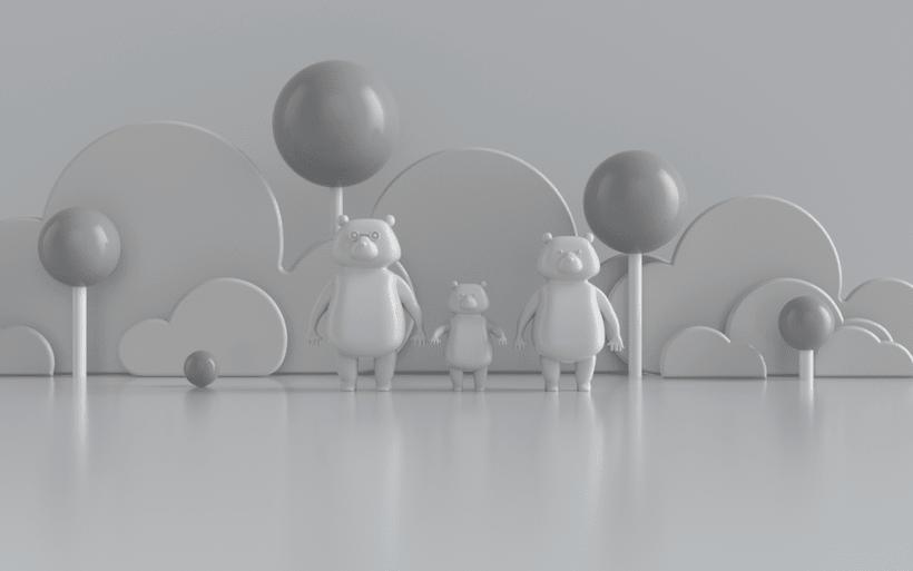 Meu projeto do curso: A família de urso por um outro lado 4