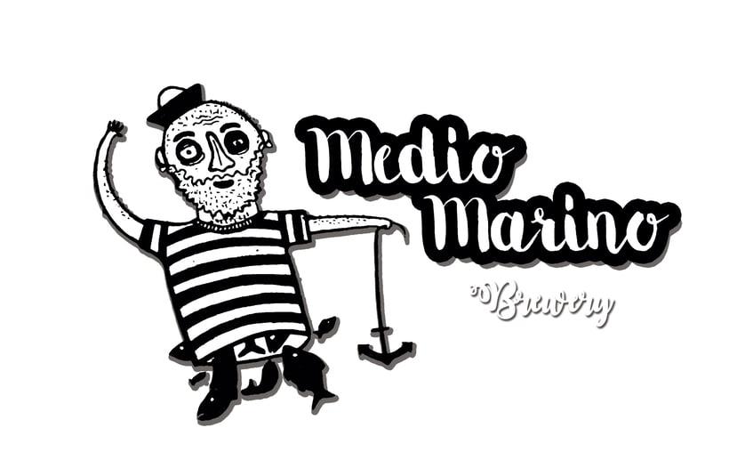 Logo cerveza artesana Medio Marino -1