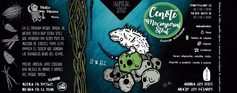 Etiqueta Cenote Meximperial Stout 0