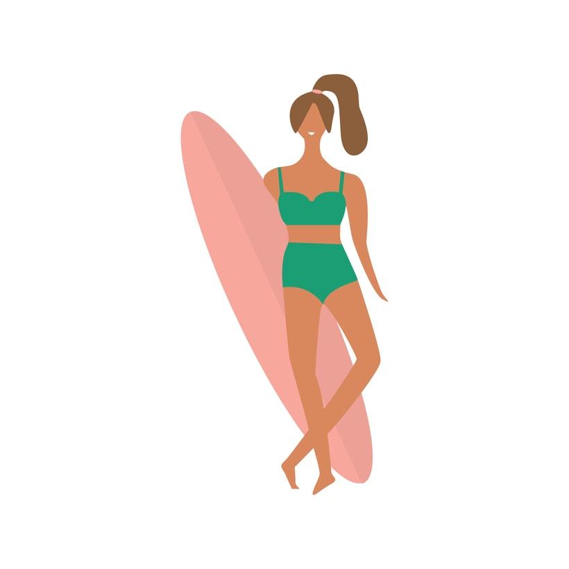 Surf Girl -1