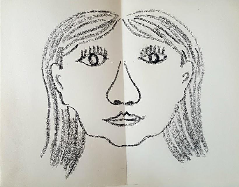 dibujo de cara, Pili -1