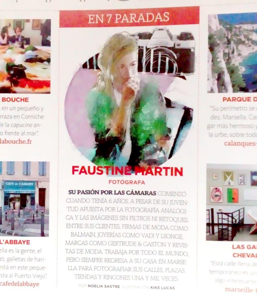 Retrato de Faustine Martin 1