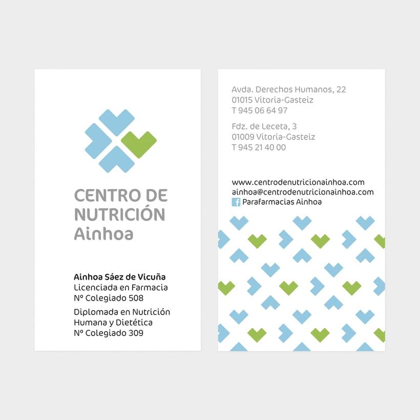 """Identidad Corporativa de """"Centro de Nutrición Ainhoa"""". 2"""