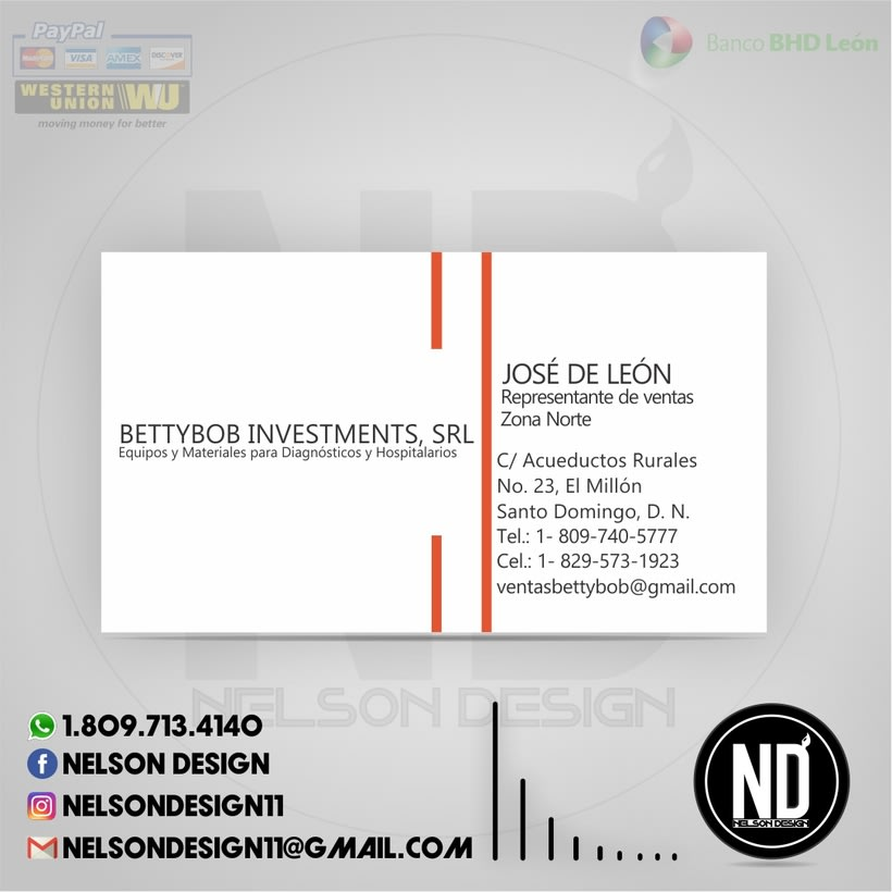 Tarjeta de presentación - BettyBob Investments, S.R.L. 0