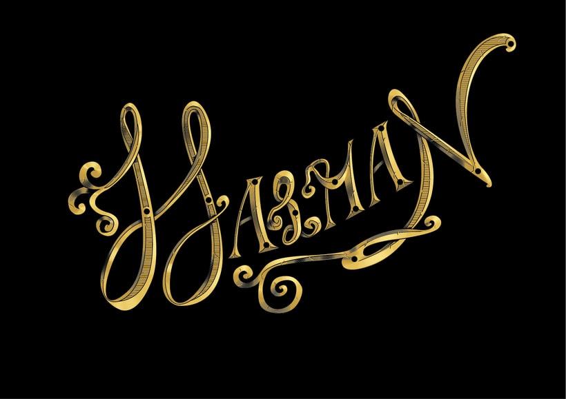 Ornamental lettering -1