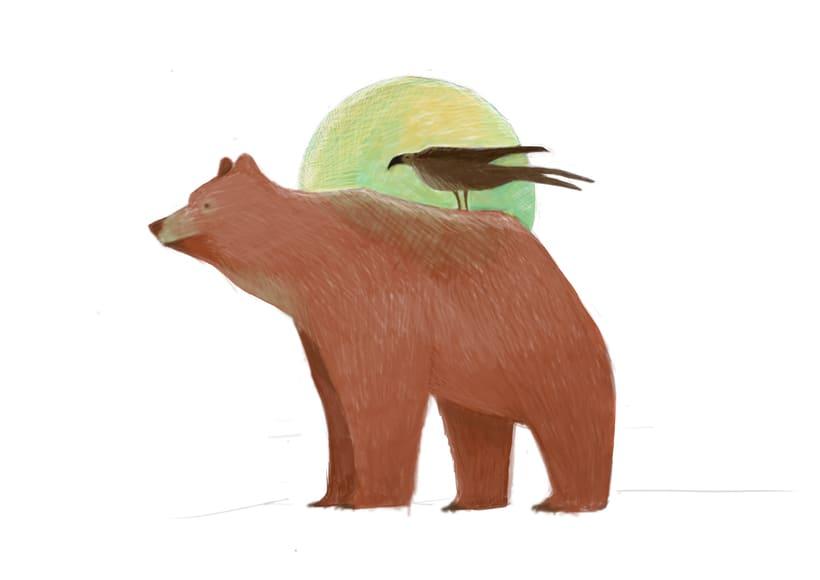 el oso y el ave.  0