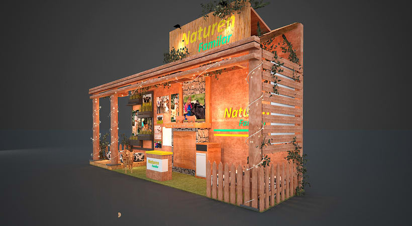 Stand 3D - Rustico 2