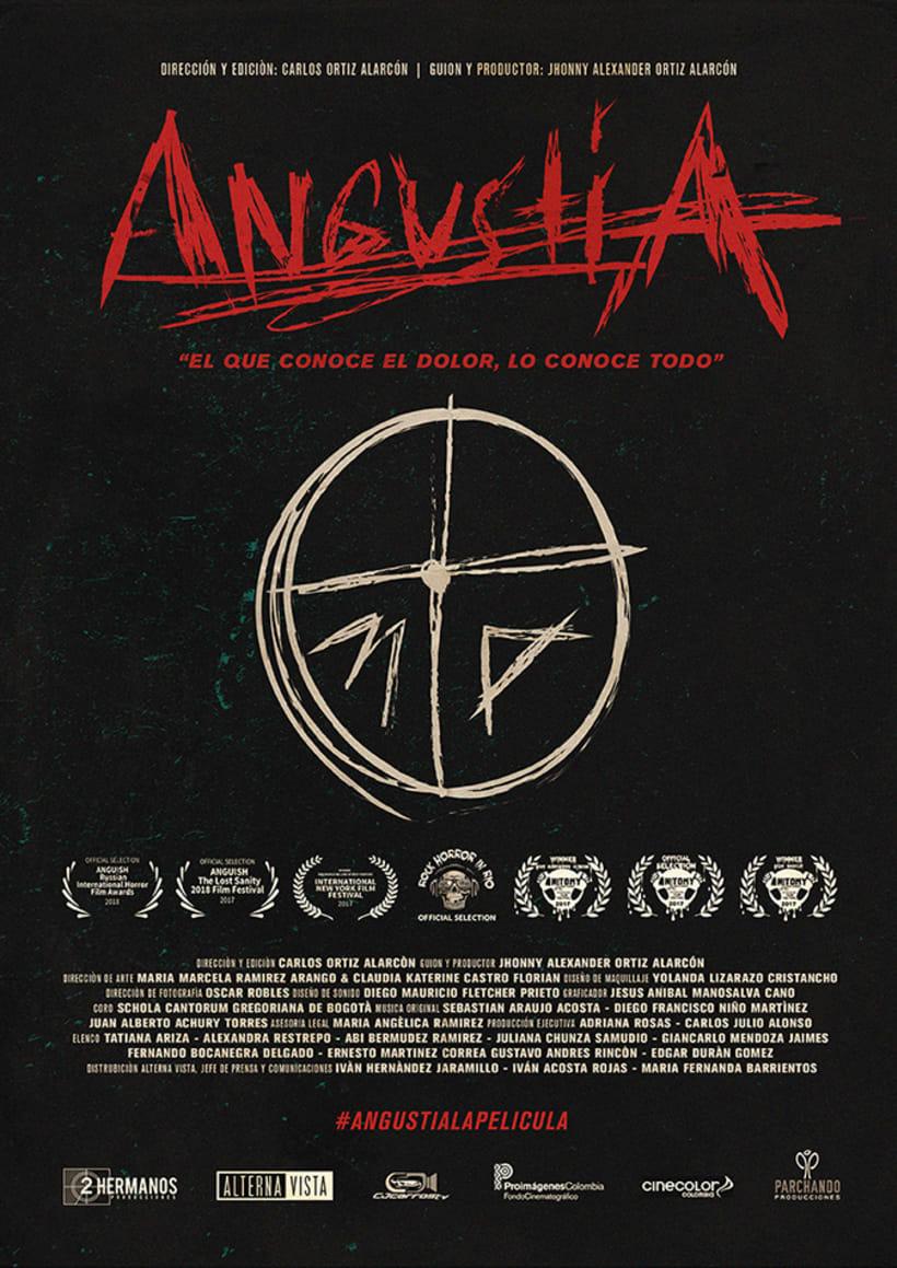 "Poster for ""Angustia"" la película 0"