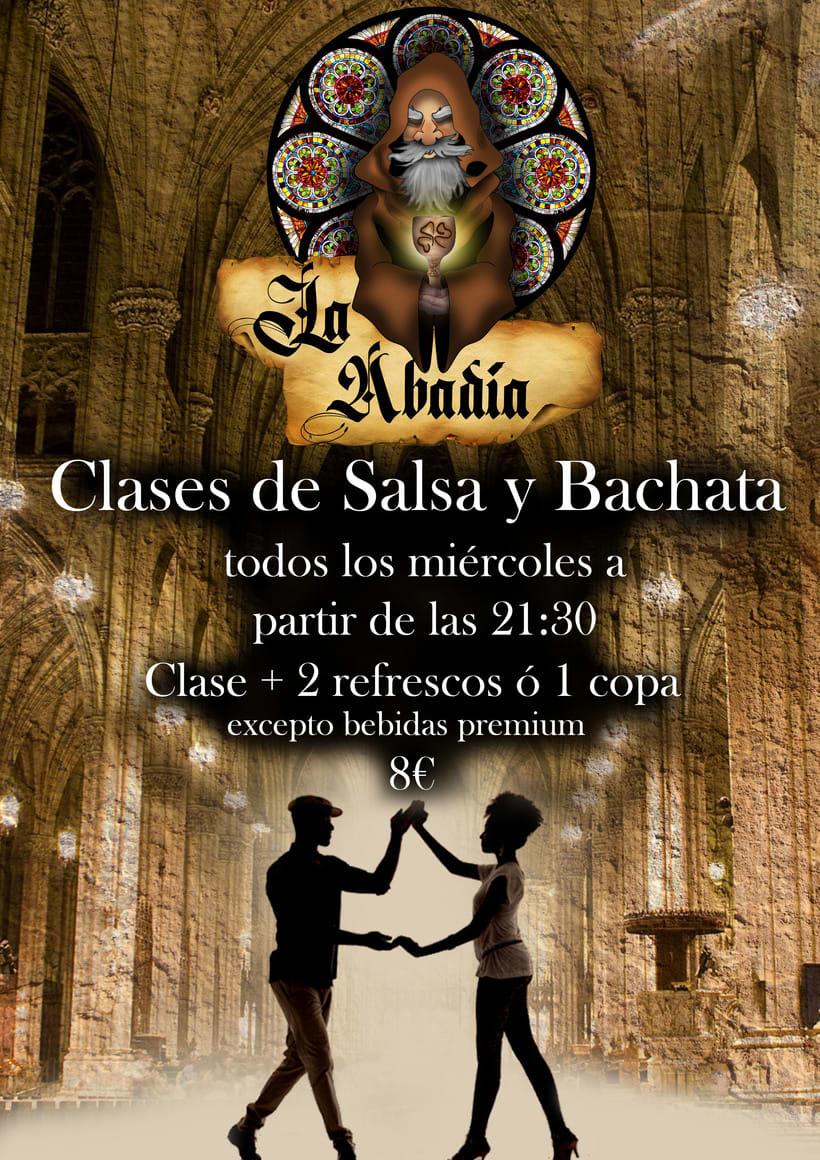 """Imagen corporativa, cartelería y publicidad del pub """"La Abadía"""" en Alcorcón (Madrid)  3"""