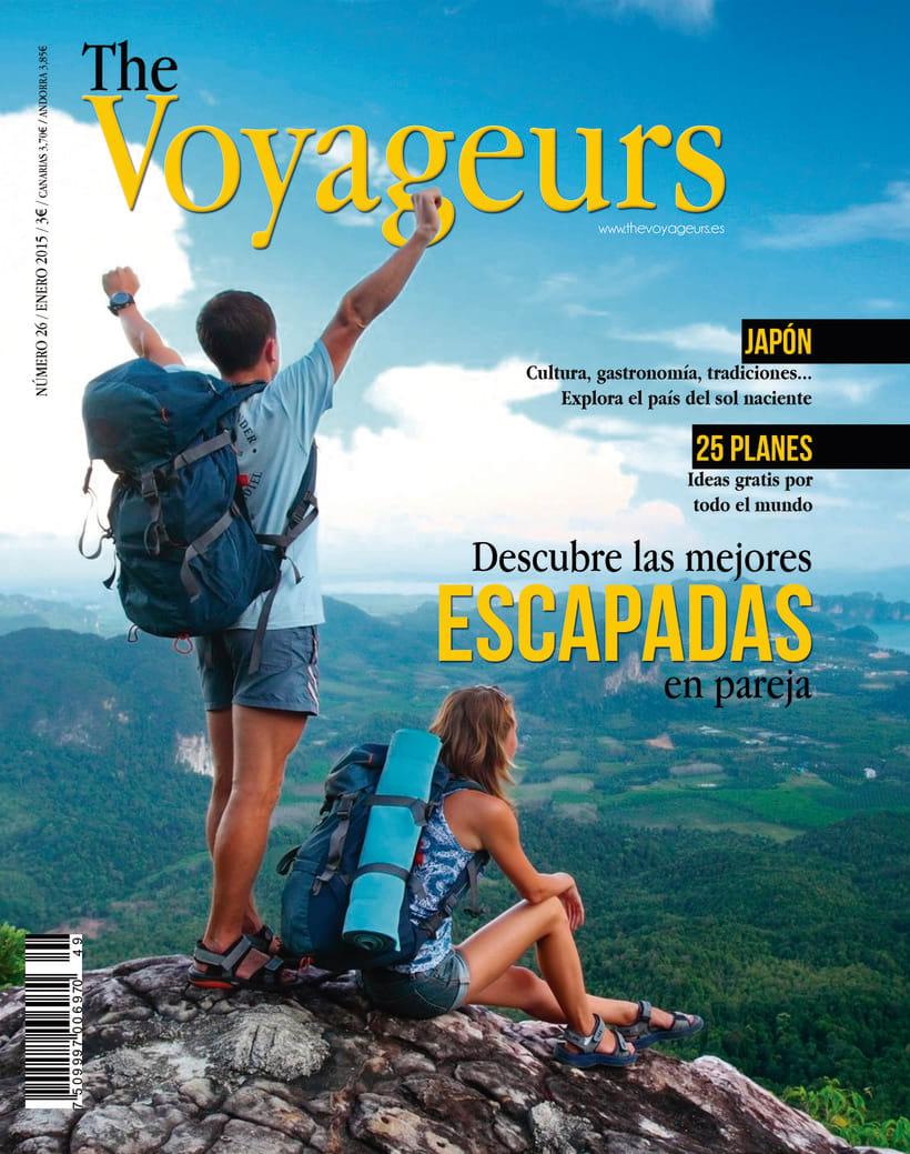 "Cubierta revista ""The Voyageurs"" -1"