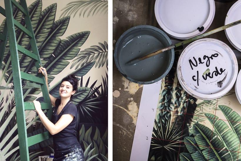 Mural Traveler Palm 2
