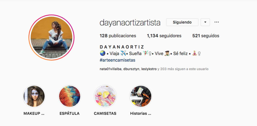 Mi Proyecto del curso: Introducción al marketing digital en Instagram en @dayanaortizartista 0