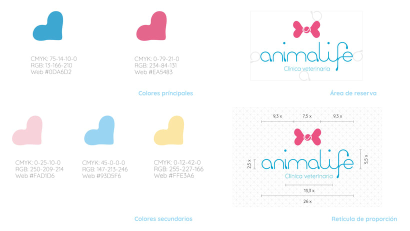 Clínica veterinaria Animalife. Identidad corporativa. 2