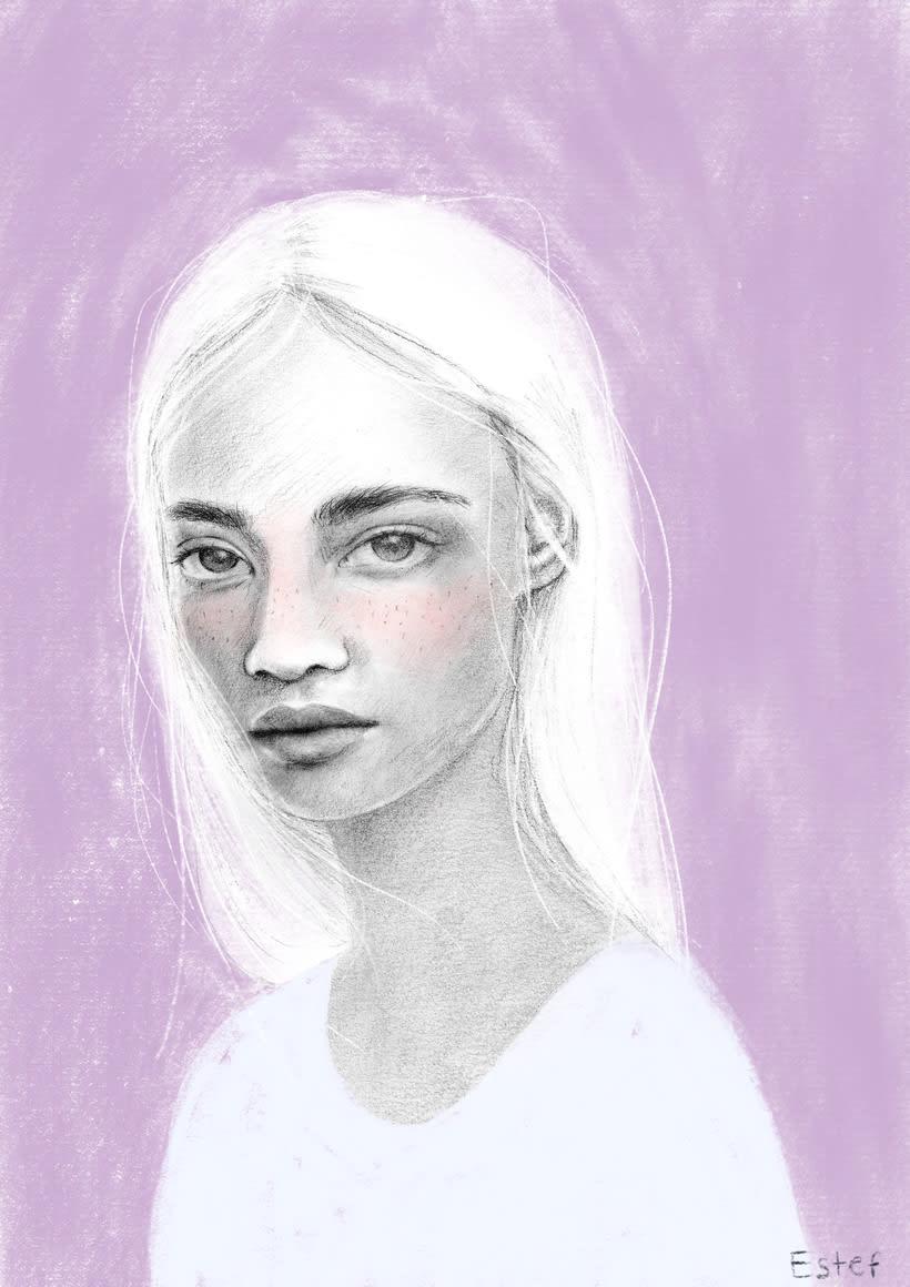 Mi Proyecto del curso: Retrato con lápiz, técnicas de color y Photoshop -1