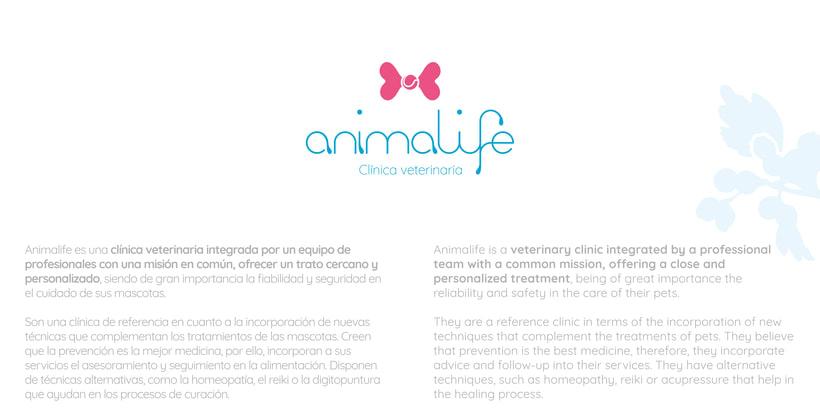 Clínica veterinaria Animalife. Identidad corporativa. 0